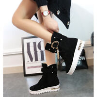 Women's Casual Snow Ankle Boots Winter Keep Warm Fur Antiskid Buckle Snow Boots