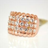 BAGUE anneau femme CRISTAUX D'OR ELEGANT record strass ring mariage кольцо 110