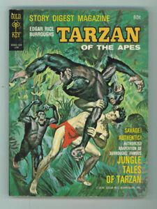 TARZAN OF THE APES #1 7.0 DIGEST MAGAZINE GOLD KEY BURROUGHS TAN PGS 1970