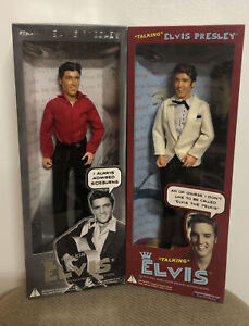 "Two Talking Elvis Presley 12"" Action Figures NIB - 2003 may no longer talk"