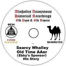 Alcoholics Anonymous AA 12 Step Speaker CD - Searcy Whalley His Story