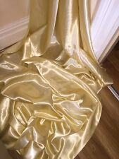 "3 MTR LIGHT GOLD SATIN LINING FABRIC...58"" WIDE"