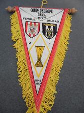 Vintage Fanion Football Bilbao / Juventus 1977 Coupe d'Europe UEFA Finale