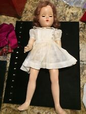 """Charming 17 1/2"""" Unmarked Antique Vintage Doll Eyes Open Close"""