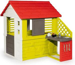 Smoby Nature Outdoor Pretend Play Playhouse and Kitchen