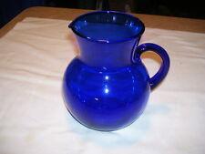 Cobalt Blue glass Water or Lemonade Pitcher