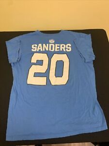 DETROIT LIONS BARRY SANDERS T Shirt Men's XL HALL OF FAME #20 Dual Sided