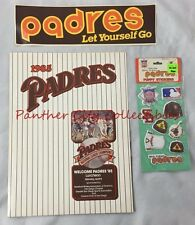 1985 San Diego Padres Luncheon Program National League Champs Decal Stickers
