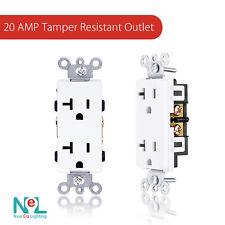 20 AMP TR Outlet Duplex Receptacles, Child-Proof, Decora [10 pack]