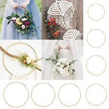 10-40cm Gold Floral Hoop Metal Ring Flower Wreath Garland Wedding Hanging B13