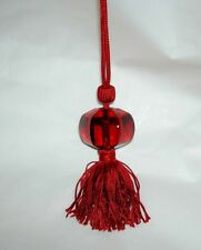 Authentic BACCARAT Large Size SHERAZADE Red Crystal Red Tassel Necklace New