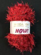 Moda Dea NOW! Yarn Single Skeins - RED LETTER - 50g Fancy Eyelash
