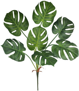Winlyn Artificial Tropical Monstera Palm Leaves Plant Tree Faux Real Touch Split