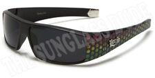 Sunglasses New Sport Designer Shades Wrap Locs UV400 Men Women Matte Black LC50B