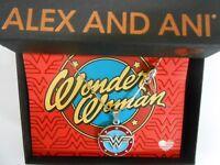 "Alex and Ani Wonder Woman Logo Expandable Necklace 32"" Rafaelian Silver"