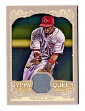 BRANDON PHILLIPS MLB 2012 TOPPS GYPSY QUEEN RELICS (REDS,BRAVES,ANGELS,INDIANS)