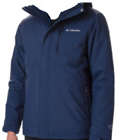 Columbia Dark Blue Interchange Jacket Mens UK Medium *Ref104