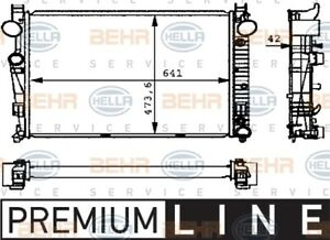 BEHR RADIATOR Fits MERCEDES BENZ S-CLASS S430/S500 03-05 8MK376710291