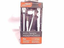 MYCHOICE ANTI TANGLE HEADPHONES STEREO EARBUDS W MICROPHONE #WHITE #71-AA