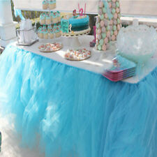 Colorful Tulle TUTU Table Skirt Tableware Wedding Party Xmas Baby Shower Decors