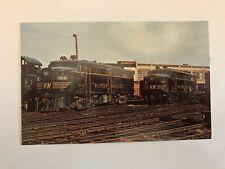 OLD WESTERN MARYLAND 301 & 302 ALCO FREIGHT LOCOMOTIVES ~TRAIN POSTCARD ~ 1970