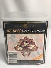 Mill Hill Art Deco Sylk & Bead Pin Kit ~ Cinnamon Rose ~ New