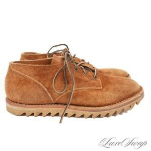 #1 MENSWEAR Viberg Made in Canada Snuff Suede Roughout Ripple Sole Shoes 11 NR