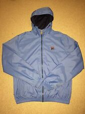 MENS Small Blue Fila Hoodie Cagoule Casual Retro