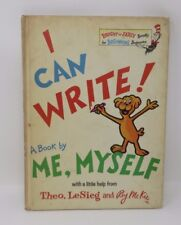 I Can Write! A Book by Me, Myself LeSieg Dr. Seuss Early Edition No Writing