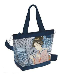 TWIIT Bag large ART & POP, BLU CAMOSCIATO, Cod. 57620