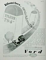 PUBLICITÉ DE PRESSE 1931 AUTOMOBILE FORD CONDUITE INTÉRIEUR 4-5 PLACES - LINCOLN