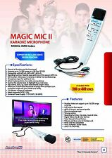 Magic Mic Index with 8000 English Songs SD Card, Real Instrumental karaoke