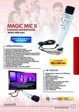 Magic Mic Index with 8000 English Songs SD Card, Real Instrumental karaoke