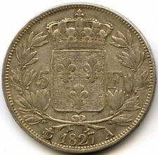 Charles X (1824-1830) 5 Francs 2e Type 1827 A Paris