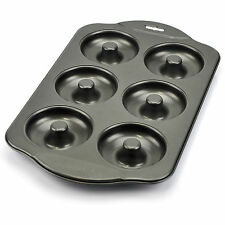Donut Pan, Nonstick Mini Cast Iron Donut Pan Stainless With 6 Count -silver Gray
