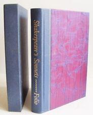 SHAKESPEAREs SONNETS Folio Society 2004 box pix A Lovers Complaint silk binding