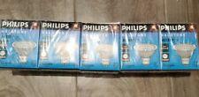 5 Pack PHILIPS HALOGEN MR16 50 WATT LIGHT BULBS 12V Type 14606