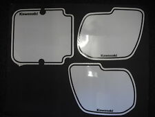 Number Backgrounds Kawasaki KX 250 KX 500 1985-1986 WHITE Decals
