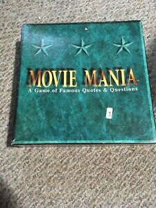 Movie Mania A Game Of Famous Quotes & Questions 1993 Teen--Adult Film Knowledkk