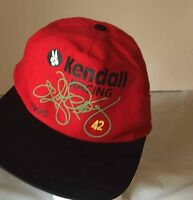1995 Kendall Racing Kyle Petty #42 Adjustable Snapback Hat Red/Black Cap NASCAR