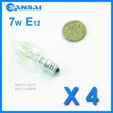 4 x Sansai  7W/240V E12 Replacement Bulb Clear for Night Light DB-458/DB-459
