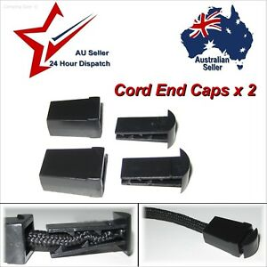 Plastic End Caps x 2 for zipper pulls, cord, laces etc:  paracord rope cap stops