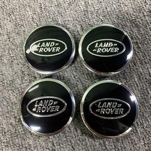 New Land Rover Black Chrome 63mm Centre Caps Range Rover Sport Discovery