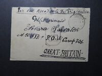 Italy 1944 Censored Cover to POW Camp 701 UK / Light Fold - Z11365