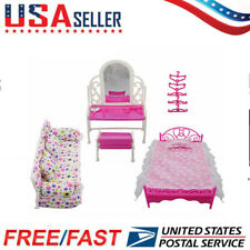 New 8 pcs/lot Princess Furniture Accessories Kids Gift For Barbie Doll US