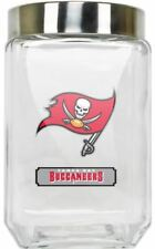 Tampa Bay Buccaneers Jar Glass Canister Large Container With Lid Duckhouse NFL