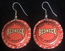 REDNECK EARRINGS Redneck Beer Caps