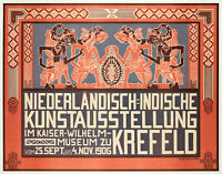 Original Poster - Thorn Prikker-Niederländisch-Indische Kunstaus-Krefeld - 1906