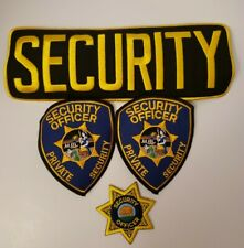 California Security Guard Private Patrol patch set HTF NEW