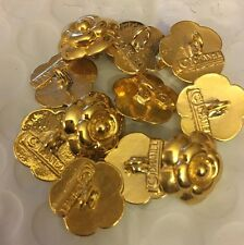 Chanel Authentic Camellia Gold Tone Button Price For 1 Button Only 15mm